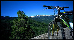 biking in red river, views of Wheeler Peak