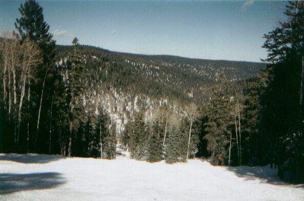 Taking a run down Ski Cloudcroft