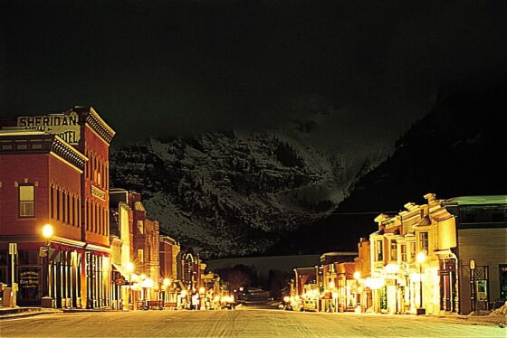 Night time in Telluride