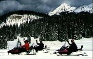 Snowmobiling near Telluride